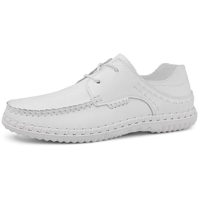 Buy Trendy Comfortable Lace-up Casual Leather Flat Shoes for Men