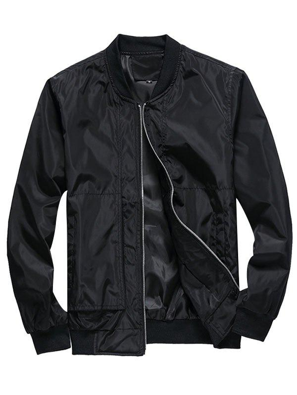 Fancy Leisure Stylish Solid Color Jacket