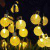 Waterproof Round-shaped Solar Energy String Lamp with 30LEDs -