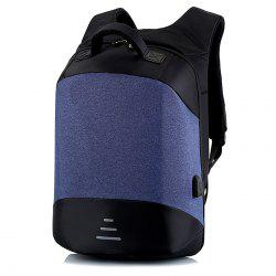 Leisure Anti-theft Travel Backpack with USB Charging Port -