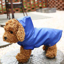 Pet Clothes Dog Hooded Raincoat Waterproof Outer Mesh Inner Adjustable Waist Buckle -