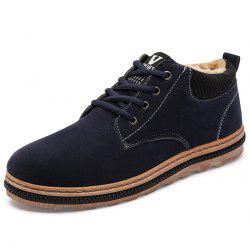 Winter Cotton Suede Casual Shoes for Men -