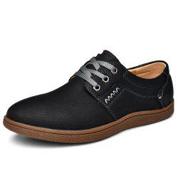 Trendy Anti-slip British Style Lace-up Casual Shoes for Men -