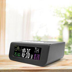 Digital Colorful Screen Alarm Clock FM Radio for Sleep Timing -