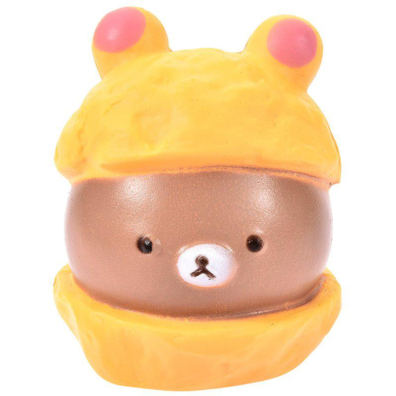 PU Squishy Simulation Bear Low Resilience Toy Коричневый сахар