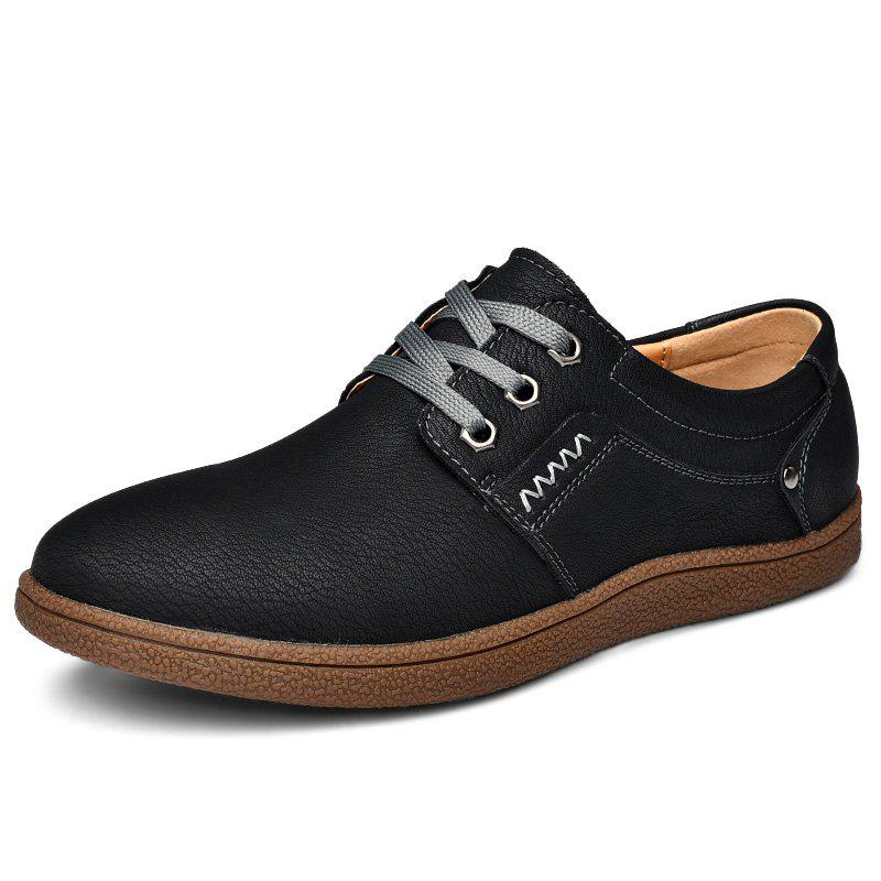 Shops Trendy Anti-slip British Style Lace-up Casual Shoes for Men