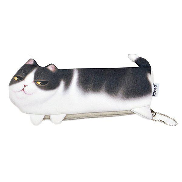 Best 3D Cat Pencil Case Makeup Kits Bags Office Supplies Kids Stationery Pen Cosmetics Pouch
