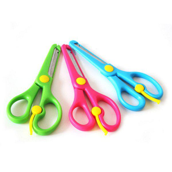 Discount Kids Colorful Plastic Safety Blunt Training Scissor Art DIY Craft Paper Cutting Stationery for Preschoolers Toddlers Student 3pcs