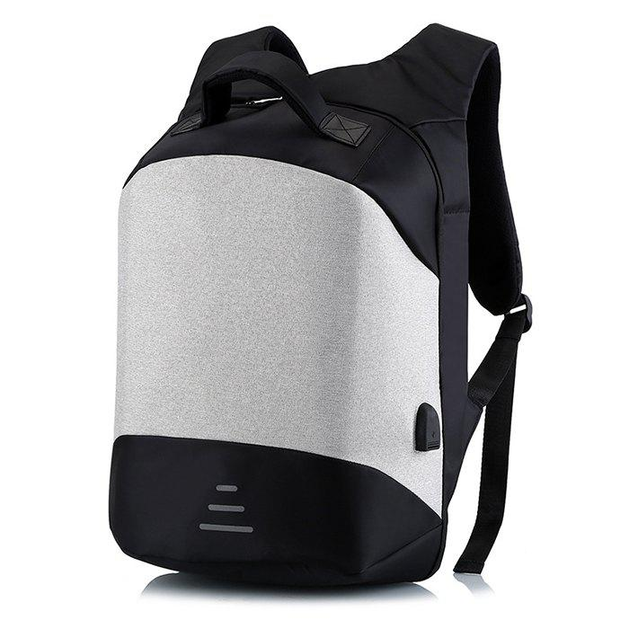 Fashion Leisure Anti-theft Travel Backpack with USB Charging Port