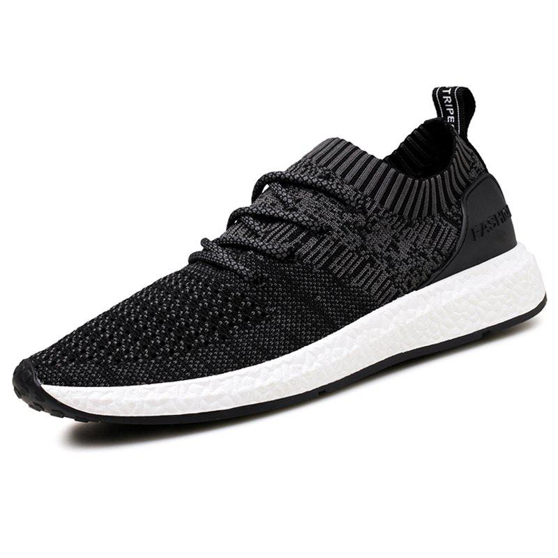 Online Fashion Comfortable Woven Fabric Anti-slip Sneakers for Men