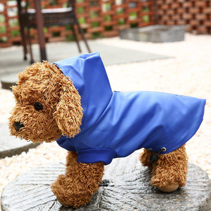 Online Pet Clothes Dog Hooded Raincoat Waterproof Outer Mesh Inner Adjustable Waist Buckle