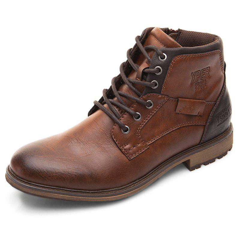Discount XPER Comfortable Lace-up Classic High-top Boots for Men