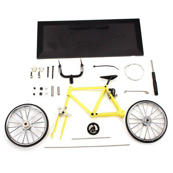 Trendy DIY Simulation Alloy Mountain / Road Bicycle Model Set Decoration Gift Toy