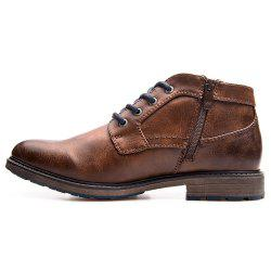 XPER Trendy British Style Anti-slip Cotton-padded Lace-up Boots for Men -