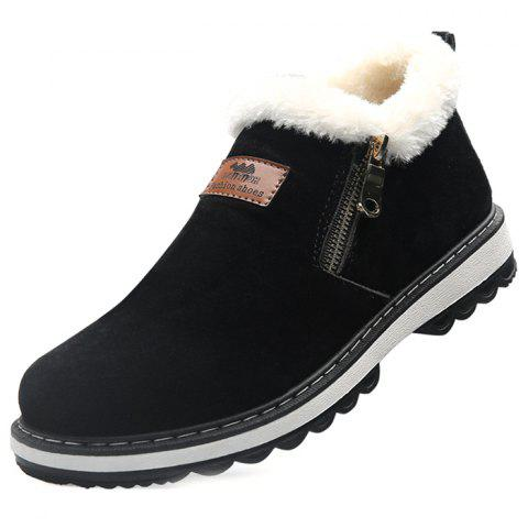 Suede Zipper Snow Boots for Men