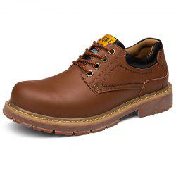 Stylish Wear-resistant Low-top Lace-up Casual Shoes Boots for Men -