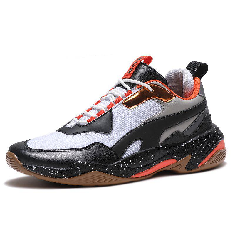 New Men's Fashion Personality PU Casual Sneakers