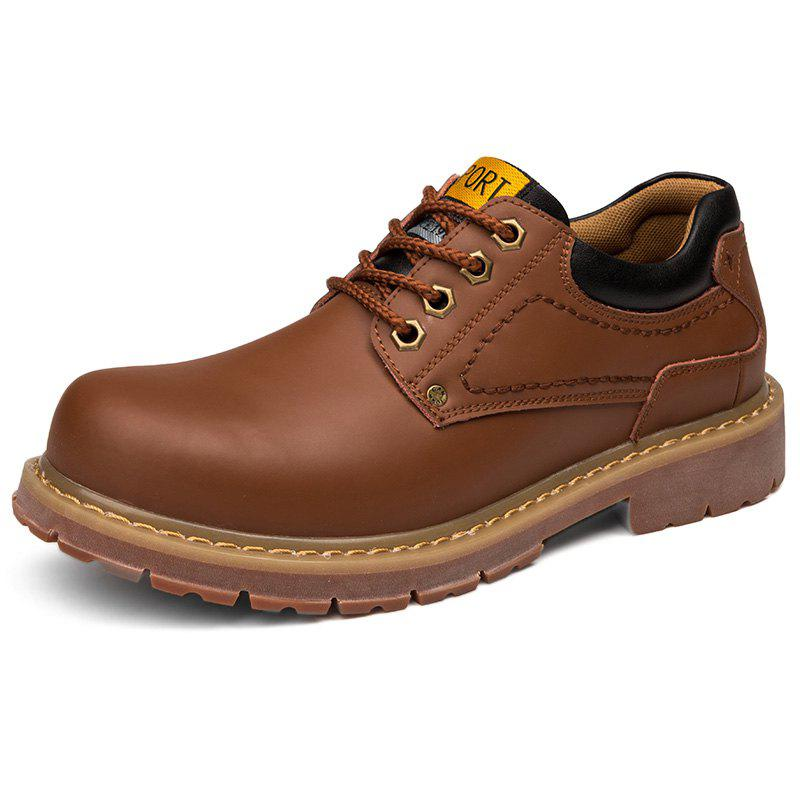 Sale Stylish Wear-resistant Low-top Lace-up Casual Shoes Boots for Men