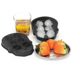 Creative Skull Frozen 6 Block Ice Cube Mold -