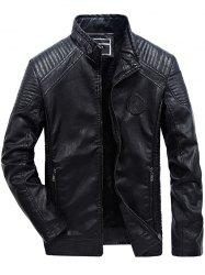 JOOBOX Brushed Leisure Leather Jacket for Men -