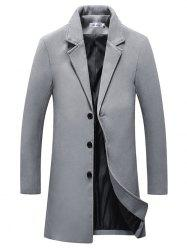 Button Fashion Long Overcoat for Men -