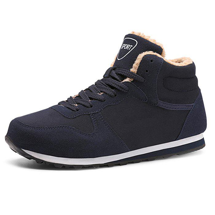 Online Leisure Warm Mid-high Boots for Men