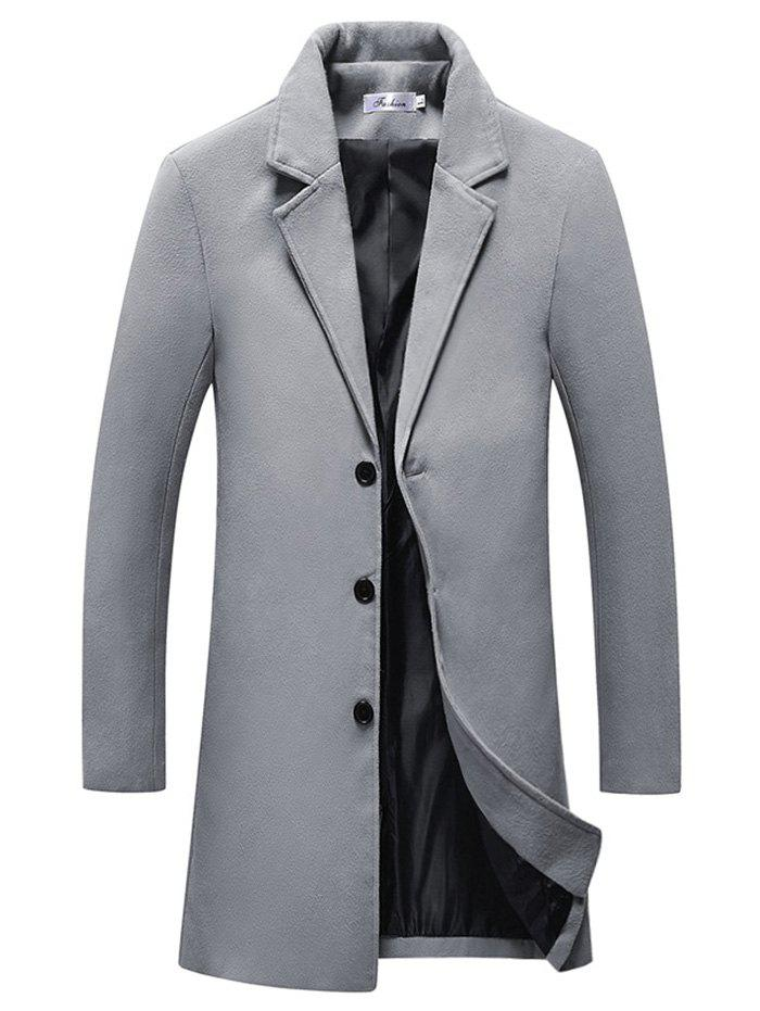 New Button Fashion Long Overcoat for Men