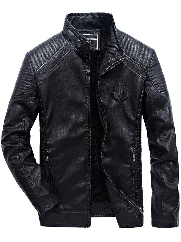 Chic JOOBOX Brushed Leisure Leather Jacket for Men