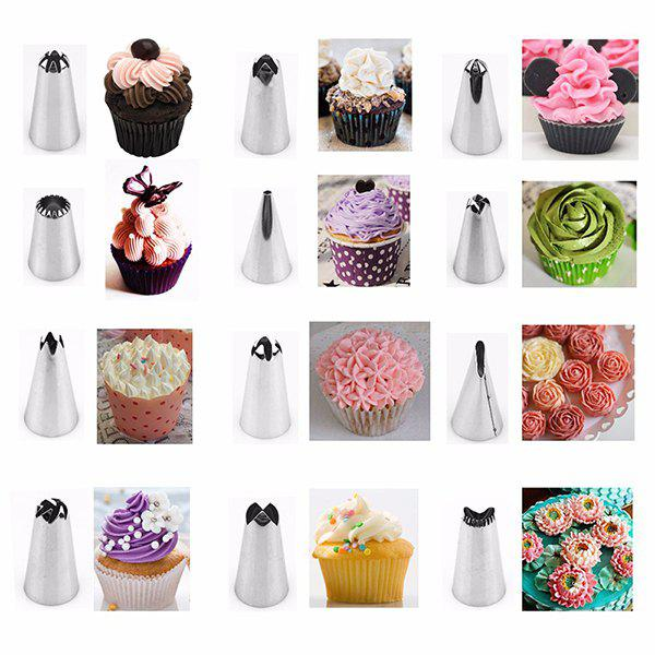 Diy Cake Decorating Stainless Steel Cream Pastry Nozzle Set