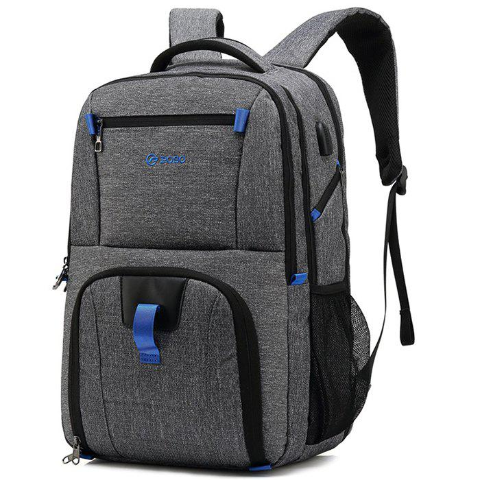 Shop POSO Waterproof Large Capacity Storage Travel Backpack with USB Charging Port