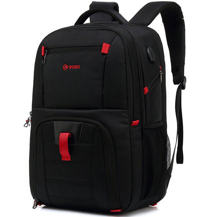d2fc9c144 Store POSO Waterproof Large Capacity Storage Travel Backpack with USB  Charging Port