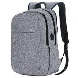 SOCKO Large Capacity Storage Travel Backpack with USB Charging Port -