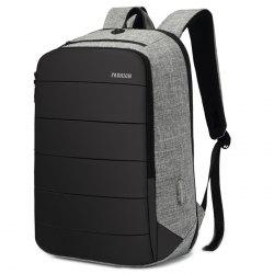 Solid Color Oxford Fabric Backpack -