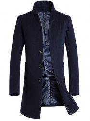 Leisure Medium Long Single Breasted Wool Coat for Men -