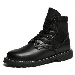 Stylish Warm Lace-up Martin Boots for Men -