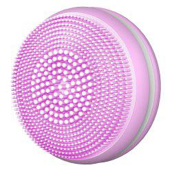 T68 Mini Macaroon Electric Silicone Ultrasonic Facial Cleansing Brush Massager -