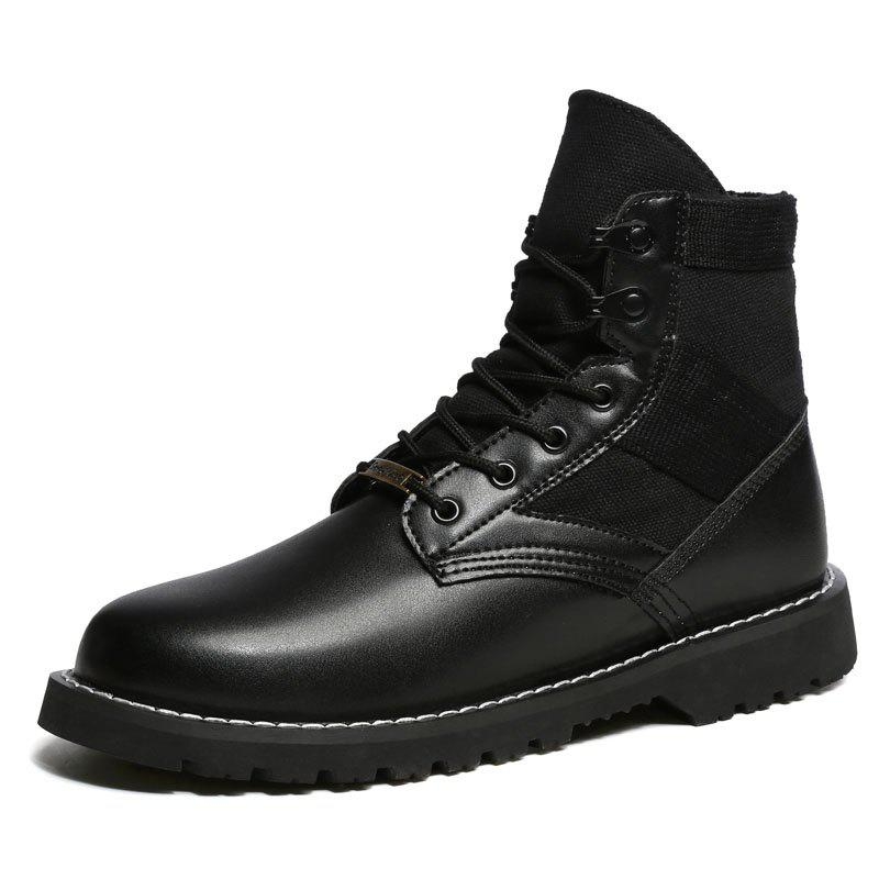 Cheap Stylish Warm Lace-up Martin Boots for Men