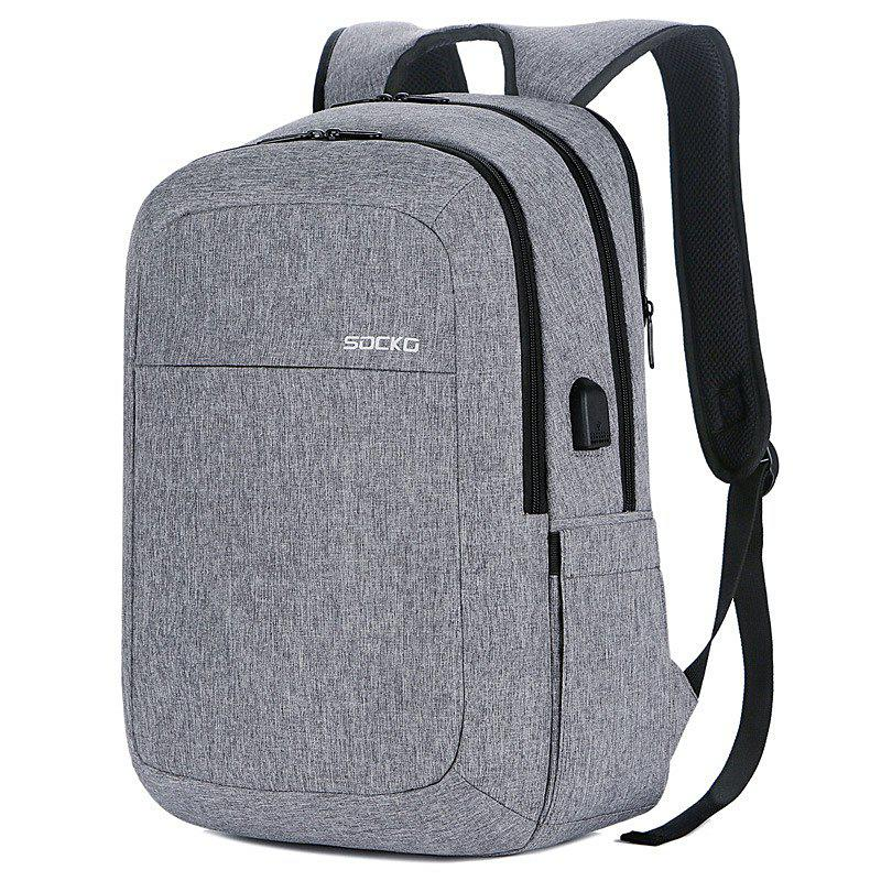 Shops SOCKO Large Capacity Storage Travel Backpack with USB Charging Port