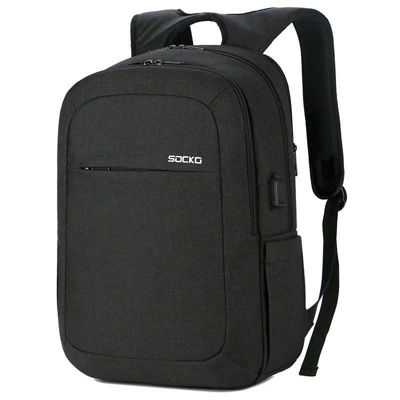 Sale SOCKO Large Capacity Storage Travel Backpack with USB Charging Port
