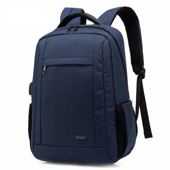 Cheap POSO Business Water-resistant Large Capacity Laptop Backpack with USB Port