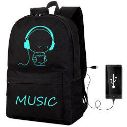 Fashion Anti-theft USB Laptop Backpack for Outdoor Traveling -