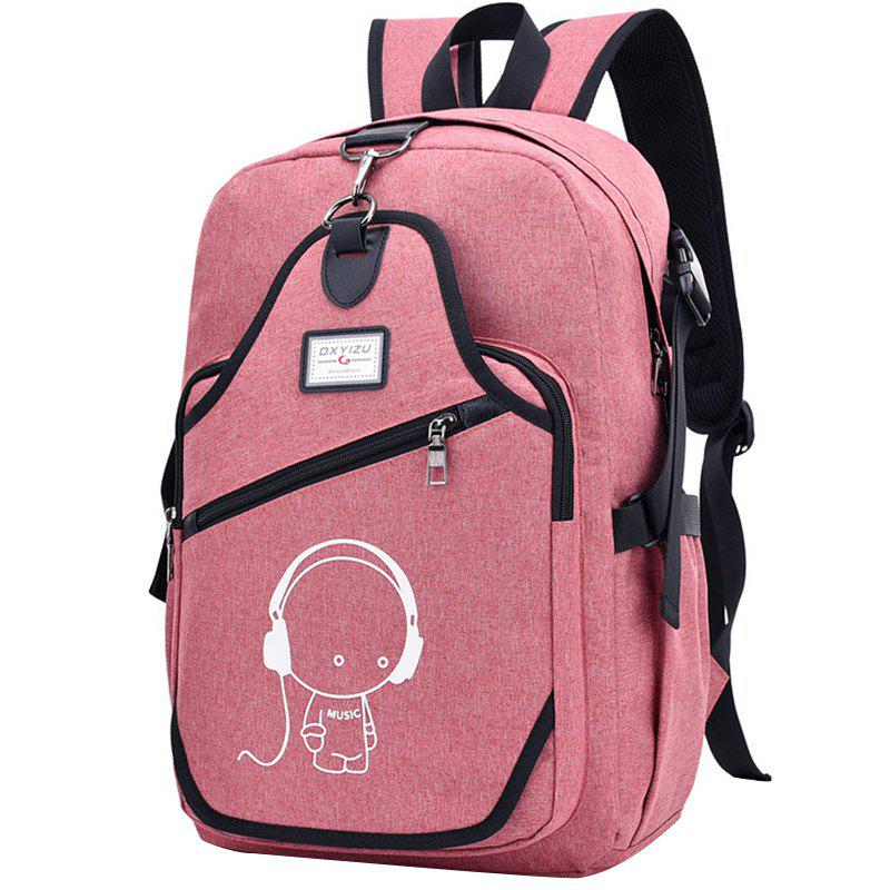 Outfit Leisure Multifunctional Luminous Anti-theft Backpack for Men