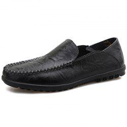 Men Microfiber Leather Casual Flat Shoes -
