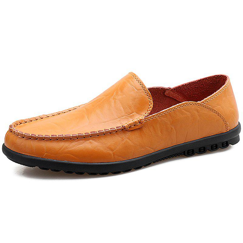 Store Men Microfiber Leather Casual Flat Shoes