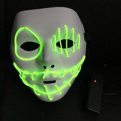DIY EL PVC Halloween Mystifying Luminous Mask -