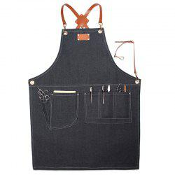 Stylish Denim Apron for Coffee Maker Hairstylist -
