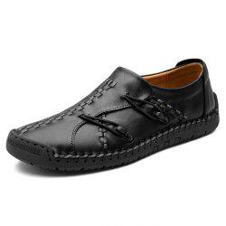 Stylish Casual Leather Leisure Comfortable Flat Shoes for Men -
