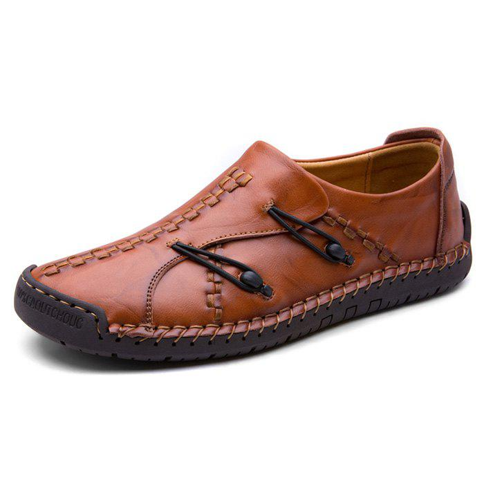Chic Stylish Casual Leather Leisure Comfortable Flat Shoes for Men