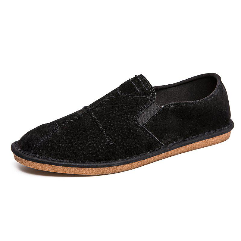 Store Stylish Leather Leisure Comfortable Flat Shoes for Men
