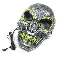 EL Cold Light Line Skull Luminous Mask -